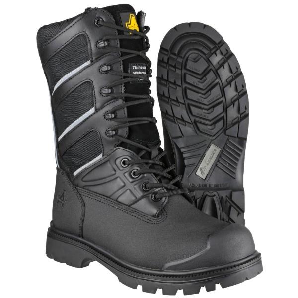 5869553d7e5 AMBLERS FS994 WATERPROOF HI-LEG LACE UP SAFETY BOOT